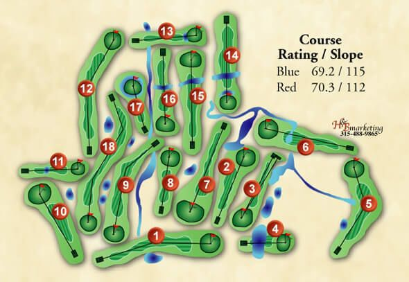 Map of Greenview Course 2