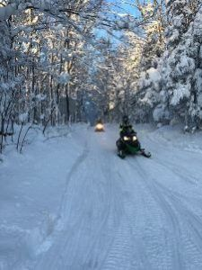 Cabin Fever Cottages snowmobile trail