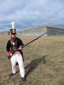 Students will present research papers on War of 1812 topics on Friday evening during the April 4-6, 2014 Oswego War of 1812 Symposium at the Lake Ontario Event and Conference Center, 26 E. First St., Oswego.   Graduate student Jon Zella, dressed as a 3rd Artilleryman at Fort Ontario in 1814, and any SUNY Oswego student who registers at least one week in advance of the symposium with Dr. Richard Weyhing of the History Department, will have their registration fee waived [Richard.Weyhing@oswego.edu].
