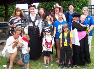 Pirate Queen Jeanette and Pirate King Brian with some of the marauders at a 2013 Kids' Pirate Day, earlier this month, at the H. Lee White Museum and Maritime Center. The event will be held again on Wednesday, July 24, 2013, from 10am - noon; due to limited space, tickets must be purchased in advance through info@hleewhitemarinemuseum.com or 315-342-0480 or stop by the Museum's Treasure Chest Gift Shop at the end of Oswego's West First Street Pier.